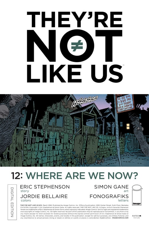 They're Not Like Us #1-16 (2014-2017) Complete